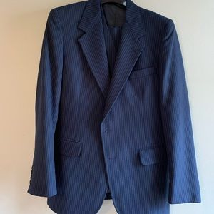 Other - Austin Hill 3 Piece Tailored Navy Pin Striped Suit